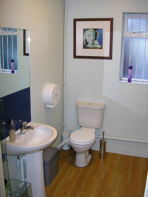 Large washroom with disabled access
