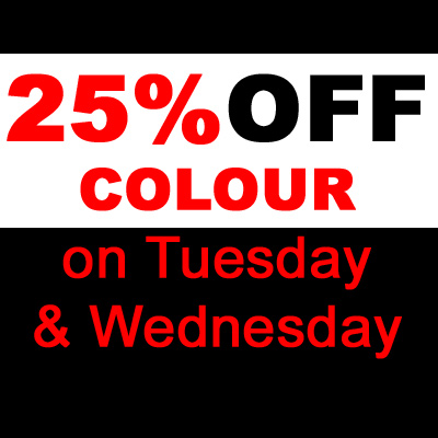 25% off Colour